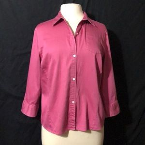 Banana Republic Stretch 3/4 Sleeve Button Down